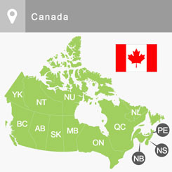 Map Of Canada For Students.Get Information On Financial Assistance Available For International
